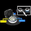 Milesight MS-C5375-EPB 5MP kültéri motorzoom optikás Mini dome kamera, 2.8~8.4mm