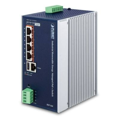 Planet BSP-360 4-Port Gigabit PoE + 1-Port Gigabit Ethernet switch napelemhez