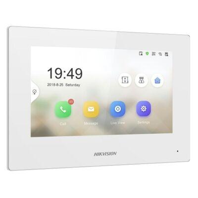 "Hikvision DS-KH6320-WTE1-W IP video kaputelefon beltéri egység 7"" LCD kijelzővel"