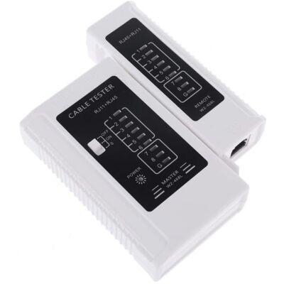 Hálózati kábel teszter RJ11 / RJ45 Ethernet csatlakozókhoz.