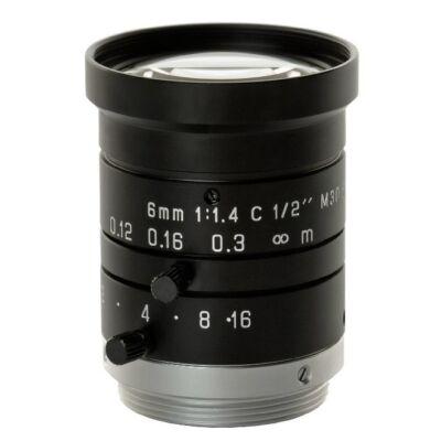 """PENTAX H614-MQ(KP) Fix fókuszú 6mm (57,4 fok), F/1.4 1/2"""" C menet manual irisz"""