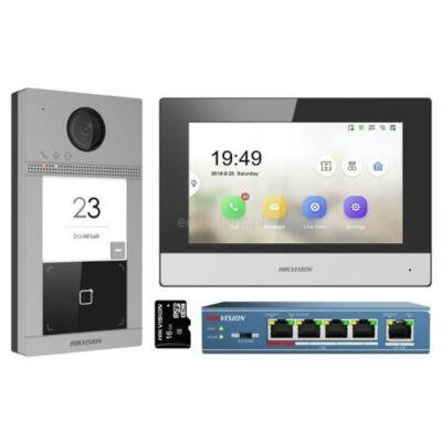 Hikvision DS-KIS604-S IP video kaputelefon szett, vandálbiztos kültéri egységgel