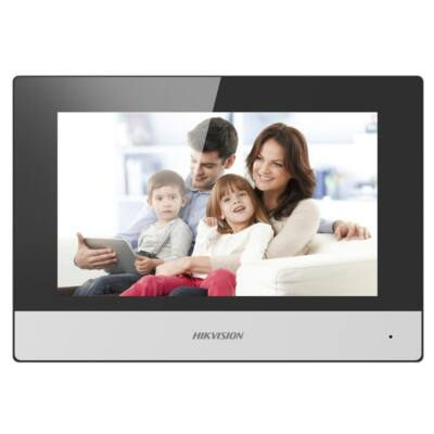"Hikvision DS-KH6320-WTE2 IP video kaputelefon beltéri egység 7"" LCD kijelzővel"