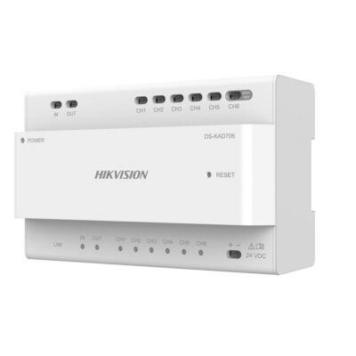 Hikvision DS-KAD706 Disztibútor egység 2 vezetékes IP kaputelefon rendszerekhez