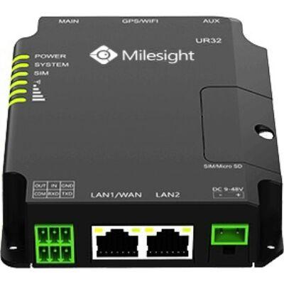 Milesight UR32-L04EU-P-W ipari 4G LTE modem router, 2x100Mbps Ethernet,PoE,WiFi