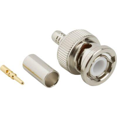 Amphenol BNC male krimpelhető csatlakozó dugó, RG59 75 ohm koax kábelre