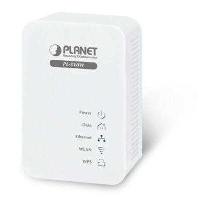 Planet PL-510W 200Mbps Powerline ethernet adapter beépített 300Mbps Wireless N