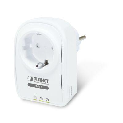 Planet PL-751 500Mbps Powerline ethernet adapter átmenő konnektor aljzattal