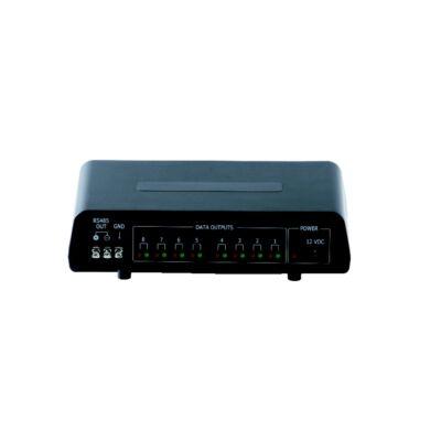GSP GCD-800 RS-485 adat elosztó. 1 bemenet 8 kimenet. LED kijelzés tápfeszültség