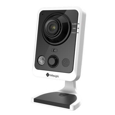 Milesight MS-C3596-PW 3MP beltéri fix optikás Mini cube kamera, 2.8mm