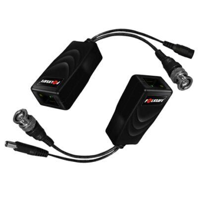 Folksafe FS-HDP4301VP-MF 1 CH passzív HD-CVI/TVI/AHDvideo balun tápcsatlakozóval