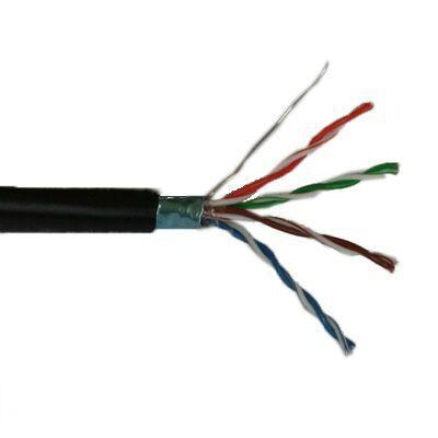 FTP Cat5e árnyékolt kültéri falkábel, tömör réz érrel