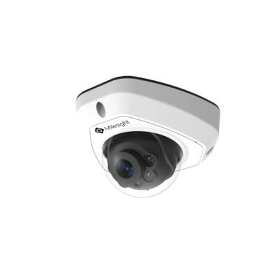 Milesight MS-C5373-PB 5MP kültéri fix optikás Mini dome kamera, 4.0mm