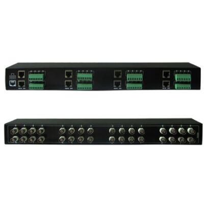 Folksafe FS-4632SR 32 CH passzív video balun RJ45 és sorkapcsos csatlakozással