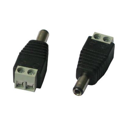 Folksafe DCMC szerelhető tápcsatlakozó dugó sorkapoccsal.