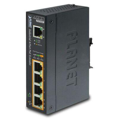 Planet IPOE-E174 1-Port Ultra PoE - 4-Port 802.3af/at Gigabit PoE Extender