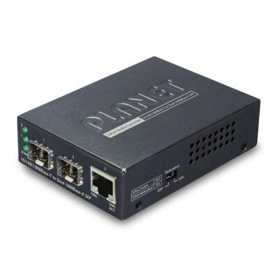 Planet GT-1205A 10/100/1000BASE-T - Dual 1000BASE-X SFP média konverter