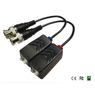 Folksafe FS-HDP4201 1CH passzív HD-CVI/TVI/AHD video balun adó-vevő szor. érintk