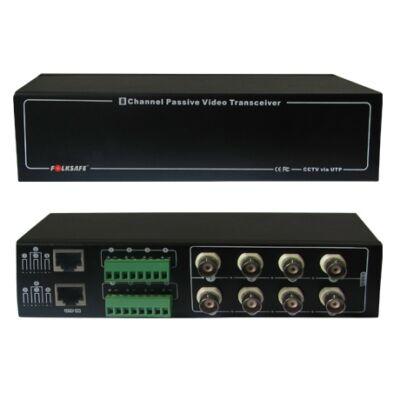 Folksafe FS-HDP4608SR 8 CH passzív HD-CVI/TVI/AHD video balun RJ45 és sorkapocs